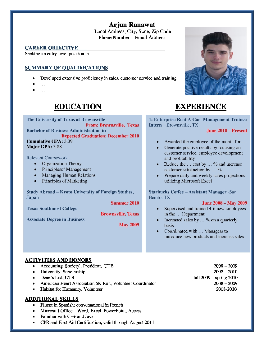 Free Resume Formats Sample Resume Format Resume Templates  Format Of Resume